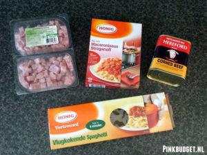 Spaghetti ingrediënten