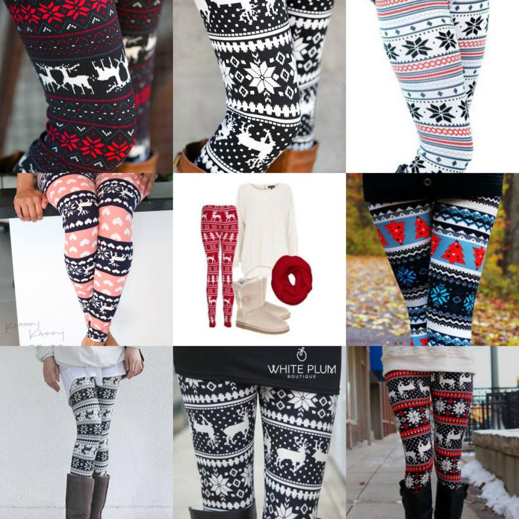 Collage Christmas Legging