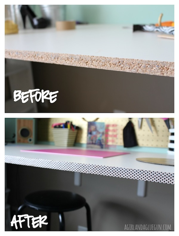 before-and-after-with-washi-tape-along-desk-edge