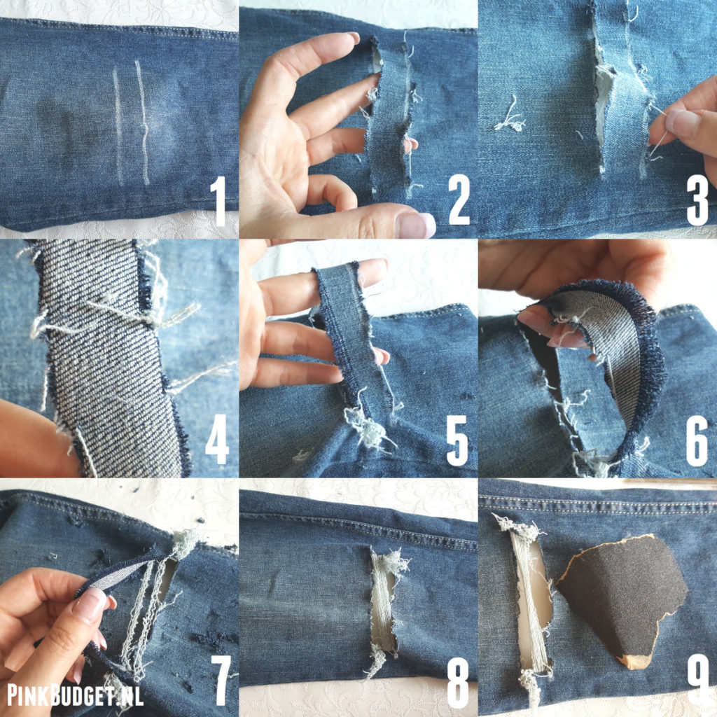 DIY Ripped Jeans donkere jeans