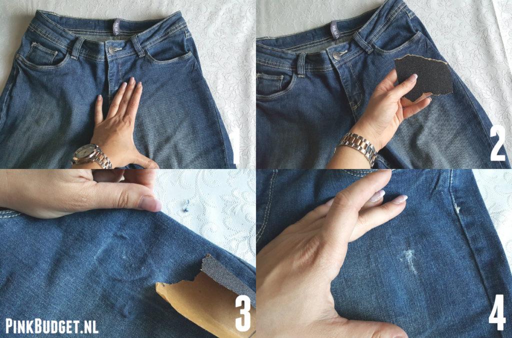 DIY Ripped Jeans kleine aanpassing