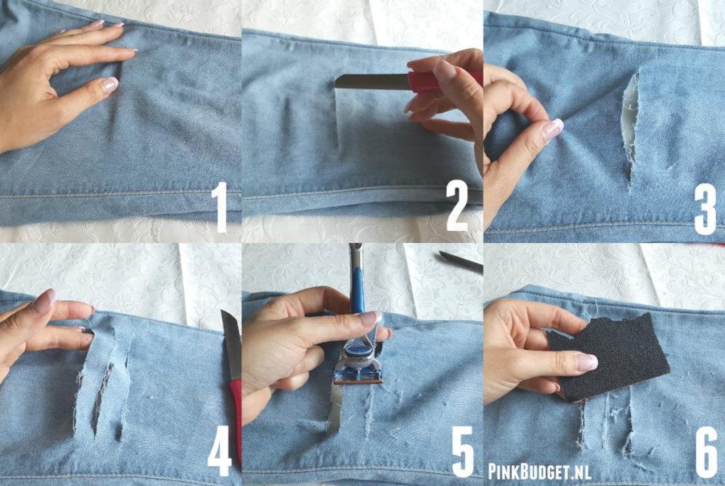 Ripped Jeans Collage lichte broek