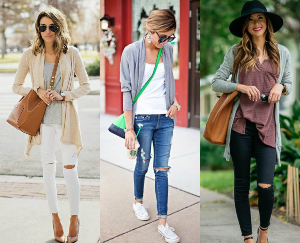 collage ripped jeans